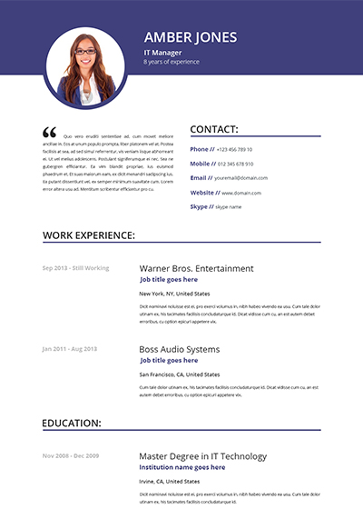 Online cv – MTA Production